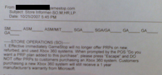 Gamestop No Longer Offering Xbox 360 Replacement Plans