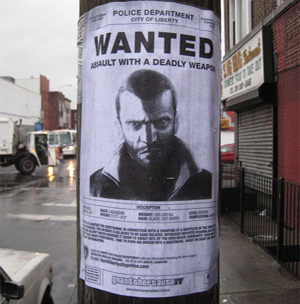 Grand Theft Auto IV Wanted Posters