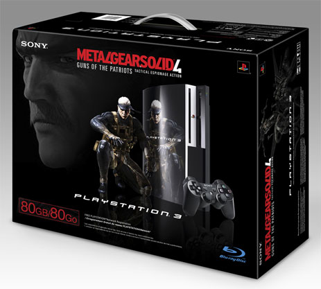 Metal Gear Solid 4 PS3 Bundle Box