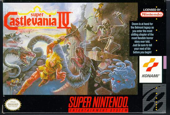 Super Castlevania IV Box Cover